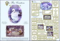 Sue Box Creations | Download Embroidery Designs | 07 - 3D Lace Swan & Specialty Lace