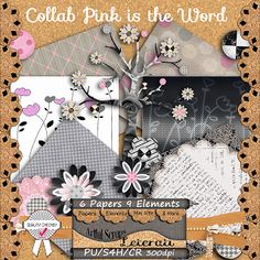 Leterati Artful Scraps: Collab - Pink is the Word - My Contribution and the WHOLE Collab is available today