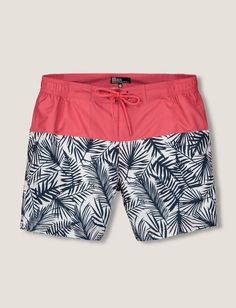 b5f43e89c1 Short de bain colorblock feuillage Mens Swim Shorts, Mens Summer Shorts, Kids  Shorts,