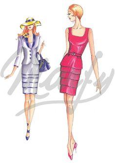 Model 2105   Sewing Pattern Dress