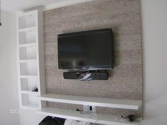 modelo de painel para tv para quarto - Pesquisa Google Muebles Rack Tv, Living Room Designs, Living Room Decor, Modern Tv Wall Units, Simple Tv, Tv Panel, Tv Wall Design, Interior Walls, Entertainment Center