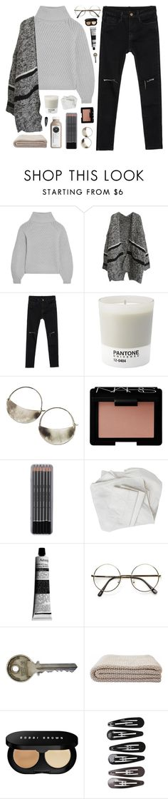 """""""Without a care in this whole world"""" by nandim ❤ liked on Polyvore featuring Iris & Ink, Pantone, Lila Rice, NARS Cosmetics, Aesop, Bobbi Brown Cosmetics and Clips"""