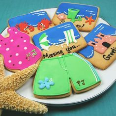 Beach Wedding, Bar & Bat Mitzvah & Party Favors - Personalized Cookies - mazelmoments.com