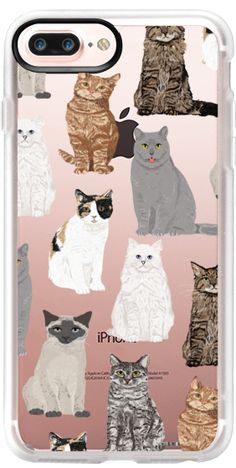 Casetify iPhone 7 Plus Classic Grip Case - Cat breeds must have cat lady gifts unique one of a kind transparent cell phone case pet friendly designs  by Pet Friendly #Casetify