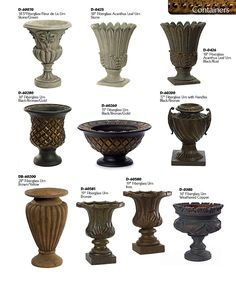 Plastic Urn Planters | Fiberglass Fleur