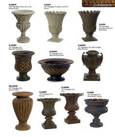 DEcorative PLanters and Urns Urn Planters, Cement Planters, Decorative Planters, Fiberglass Planters, Grape Kitchen Decor, Pillar Design, Garden Urns, Classic Garden, Tuscan Decorating