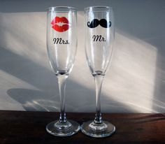 @Jen Robin should we make these for the wedding, with wine glasses? We would just need paint pens, right?