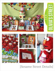 Elmo, Sydney, Sesame Street, Party Ideas, Decorations, Birthday