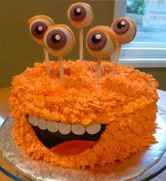 Gâteau d'Halloween : les yeux globuleux
