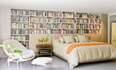 Need some bedroom inspiration? Check out these 23 stunning bedrooms for bookworms.