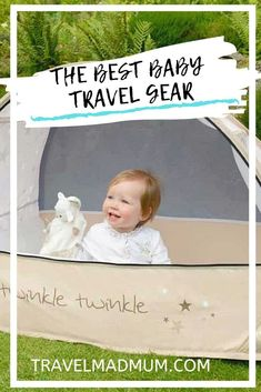 All the baby travel gear you NEED for summer vacation or your next family trip including the best toys for the airplane, pop up cots, and more! || Travel Essentials || Travel Gear for Kids || Family Travel || #travelmadmum #familytravel #travel #travelgear #babytravelgear Baby Travel Bed, Travel Tips With Baby, Toddler Travel, Packing List For Travel, Traveling With Baby, Travel With Kids, Family Travel, Packing Lists, Travel Guide