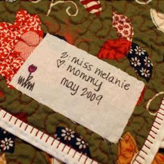 If you want to know how to make a quilt label in a matter of minutes, then read on. This free DIY Personalized Quilt Label tutorial will teach you how to fuse a personalized and decorative label onto your quilt. Read more at http://www.favequilts.com/Miscellaneous-Quilt-Projects/DIY-Personalized-Quilt-Label#j0hzf6W2qKoW1iF4.99
