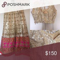 """Indian Bollywood Lehenga Sari Dress Brand new lehenga. Bust size 37"""". Comes with two different blouses. Dresses"""