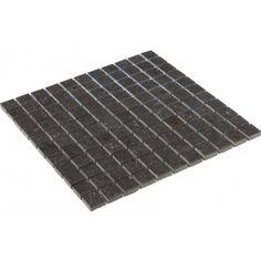 Vence dark grey polished mosaic