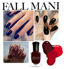 """Fall Mani nails"" by saletovic ❤ liked on Polyvore featuring beauty, Lottie, Deborah Lippmann and JINsoon"