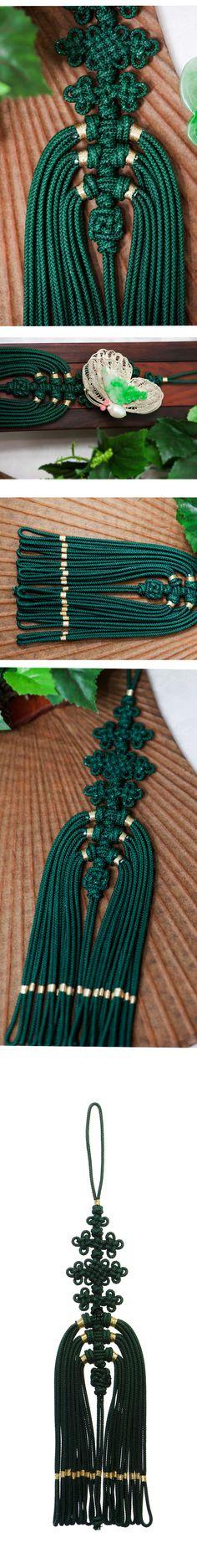 [[나스첸카] 쉽고 편안한 우리 전통 매듭 [카키 색감의 낚지발 노리개 술]] Knots, Diy And Crafts, Korea, Rope Jewelry, Craft, We, Buttons, Knot