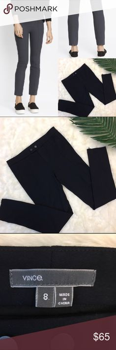 Vince Front Seam Knit Pants/Leggings Vince Front Seam Knit Pants/Leggings in excellent like-new condition. Zipper at the bottom of the legs. Vince Pants