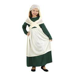 Disfraz para niña hebrea de frutera, panadera, frutera, pastora.. en www.martinfloressl.es #sevilla