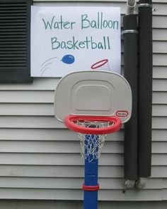 Water balloon basketball