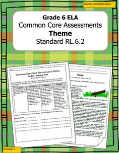 Common Core Standard RL.6.2 asks students to determine the theme of a text and how this theme is conveyed through details.This document contain an original story and one assessment that is in two different formats.   Use one format, or use both! Choose from the multiple-choice or written-response versions. *******************************************************************DAILY COMMON CORE READING PRACTICE<<(QUICK, DAILY COMPREHENSION & LITERARY ANALYSIS)>>Click Here For Dail...