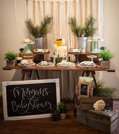 Woodsy Baby Shower Decor Forest Baby Shower Woodland Theme