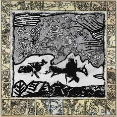 Pierre Alechinsky - VOL AUGURAL, 1989, India ink...