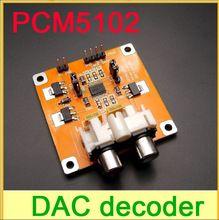 Geassembleerd pcm5102 dac decoder i2s speler 32-bits 384k es9023 pcm1794 voor buiten of framboos pi(China (Mainland))