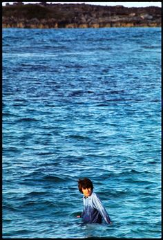 George Harrison during the filming of Help! in the Bahamas in 1965.