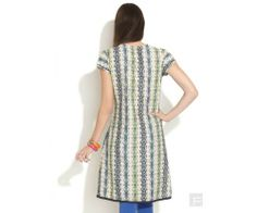 Distressed Print Panelled Kurta : http://lamora.in/kurtis/distressed-print-panelled-kurta.html?limit=100