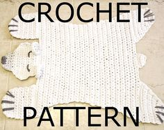 Crochet Bear Pattern using t-shirt yarn for a modern, neutral Nursery. Woodland theme! Step-by-Step tutorial