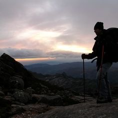Self portrait at the end of the day on Gerês by Amadeu Barros