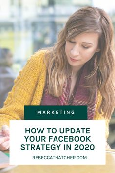 Are you looking for ways to update your Facebook Strategy like a professional? Here's some tips for you to consider on your Facebook Ads Marketing and your next Ads Campaign. Give your Business Strategy Plan successful results in 2020! Facebook Marketing, Media Marketing, Using Facebook For Business, Instagram Advertising, Digital Marketing Trends, Marketing Professional, Social Media Tips, Business Tips, Campaign