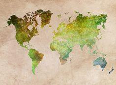 Green World Map ecology