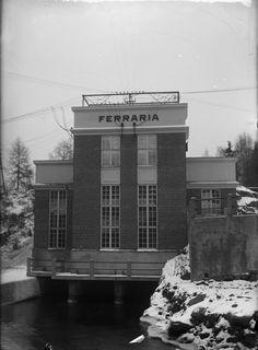 Vuonna 1926 valmistunut Ferrarian voimalaitos. Kuvalähde: Valokuvaamo Hellas Multi Story Building