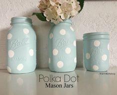 DIY Polka Dot Mason Jars | R & R Workshop #diy #polkadot