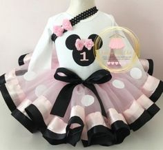 16 Ideas For Baby Shower Ides For Girls Minnie Mouse Tutus Frozen Birthday Shirt, Minnie Mouse Birthday Outfit, Birthday Party Outfits, 2nd Birthday, Mouse Outfit, Birthday Cakes, Birthday Ideas, Tutu Outfits, Girl Outfits