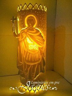 luminária em pvc Santo Expedito