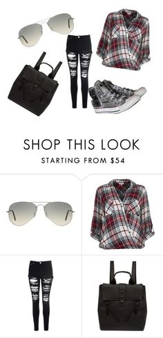 """""""Untitled #30"""" by lialil on Polyvore featuring Ray-Ban, River Island, Glamorous, Kenzo and Converse"""