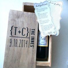 Wedding wine box first fight box wedding wine von FreestyleMom
