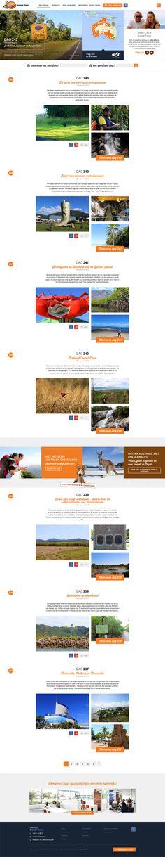 Travel Blog/Online diary for Australia.be, Aussie Tours - Designed by Weblounge - www.weblounge.be #layout #webdesign #website #travel #blog #dairy
