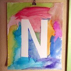 Watercolor Initial