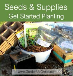 Seed and Supplies used for getting Started Planting