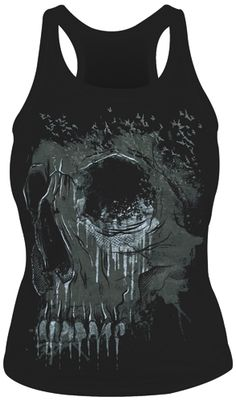 Hyraw Gothique Femmes tank top gris-prayer for Death tatouage prière