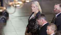 Crown Princess Mette-Marit of Norway attend a Memorial Service 22 juli 2015