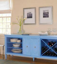 belle maison: DIY: Furniture Makeovers cradenza made into sideboard Refurbished Furniture, Repurposed Furniture, Furniture Makeover, Painted Furniture, Dresser Repurposed, Furniture Projects, Furniture Making, Diy Furniture, Furniture Design