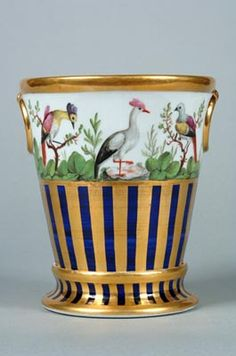 Coalport Porcelain Jardiniere and Stand c.1800-1805. Shrewsbury Museums Service