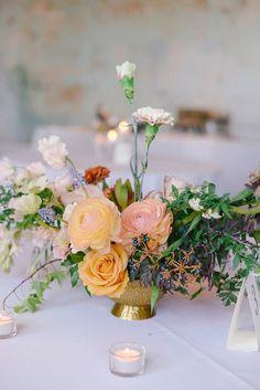 Floral Design: Philosophy Flowers - http://www.stylemepretty.com/portfolio/kelly-perry-philosophy-flowers Reception Venue: 701 Whaley - http://www.stylemepretty.com/portfolio/701-whaley Photography: Finch and Farrow - http://www.stylemepretty.com/portfolio/finch-and-farrow   Read More on SMP: http://www.stylemepretty.com/2015/06/26/modern-fresh-industrial-south-carolina-wedding/