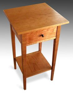 Three Shaker end tables with shelf, cherry - Reader's Gallery ...
