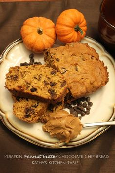 Pumpkin Peanut Butter Chocolate Chip Bread | Kathy's Kitchen Table - This bread never lasts long in our house!