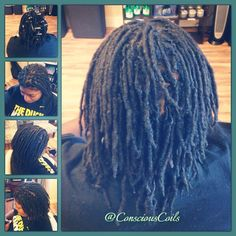 Style: Loc Retight (Palm-rolled)  Client's Hair Type: 4b/c Hair Added: NA Products Used: Coiled! by Conscious Coils (Original Refresher Spray and Loc & Styling Gel)  Time: 1hr 55mins (includes time under the dryer) Style Duration: Retight every 5-6weeks  #consciouscoils #consciouscoilssalon